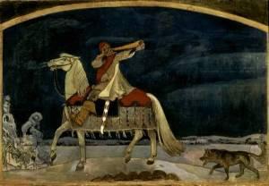 """""""Kullervo departs for the wa""""r by Akseli Gallen-Kallela"""